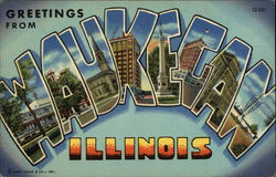 Greetings from Waukegan Postcard