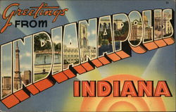 Greetings from Indianapolis, Indiana Postcard