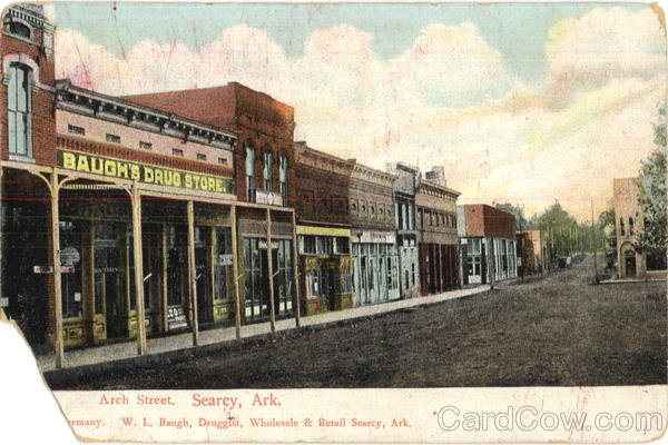 Baugh's Drug Store, Arch Street Searcy Arkansas