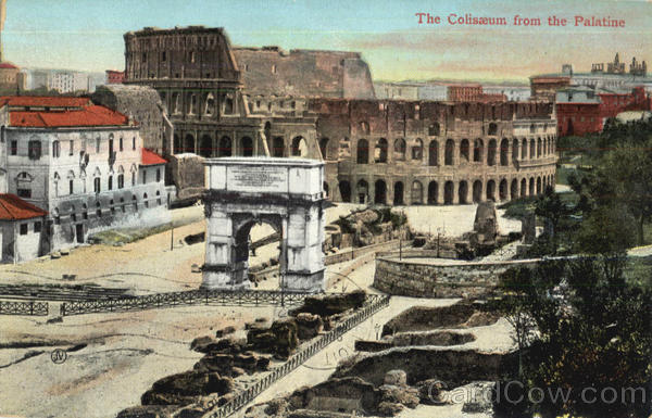The Coliseum From The Palatine Rome Italy