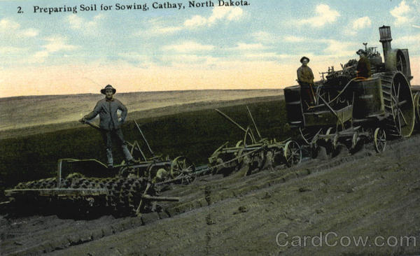 Preparing Soil For Sowing Cathay Scenic North Dakota