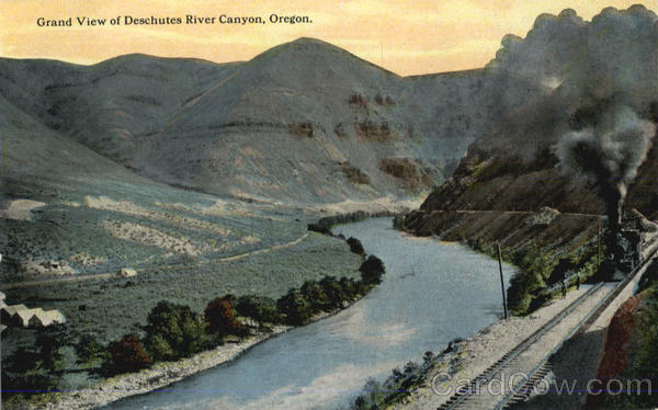 Grand View Of Deschutes River Canyon Scenic Oregon