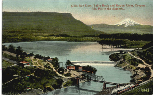 Gold Ray Dam, Rogue River Mt. Pitt Scenic Oregon