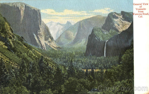 General View Of Yosemite From Wawona Road California