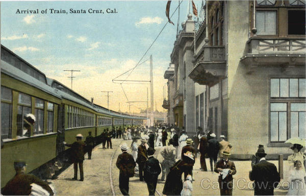 Arrival Of Train Santa Cruz California