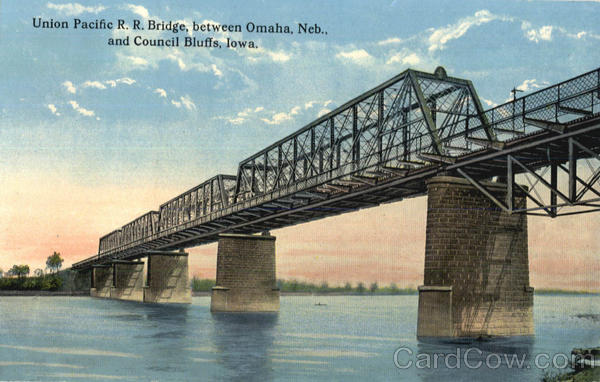 Union Pacific R. R. Bridge Council Bluffs Iowa
