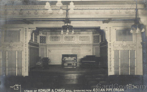 Stage Of Kohler & Chase Hall Pipe Organ Music