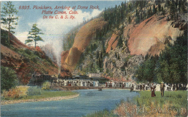 Picnickers Arriving At Dome Rock Platte Canon Colorado