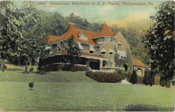 Greystone Residence Of A. P. Perley Williamsport Pennsylvania