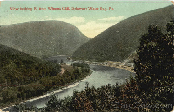 View Looking E. From Winona Cliff Delaware Water Gap Pennsylvania