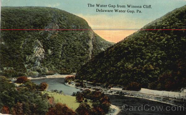 The Water Gap From Winona Cliff Delaware Water Gap Pennsylvania