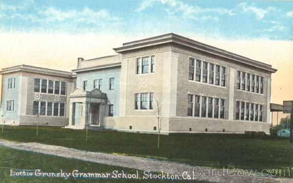 Lottie Grunsky Grammar School Stockton California