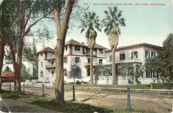 Old Palms And Club House Santa Clara California