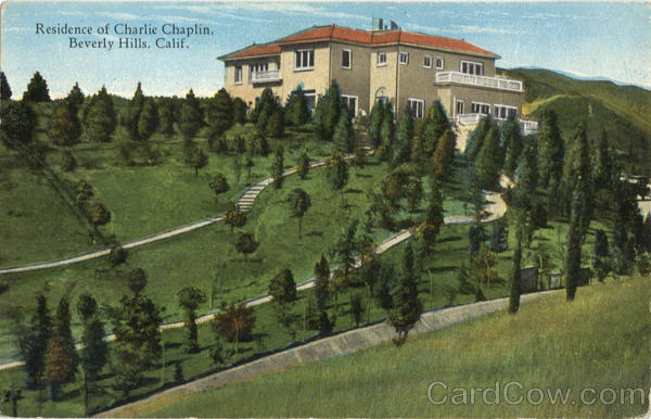 Residence Of Charlie Chaplin Beverly Hills California