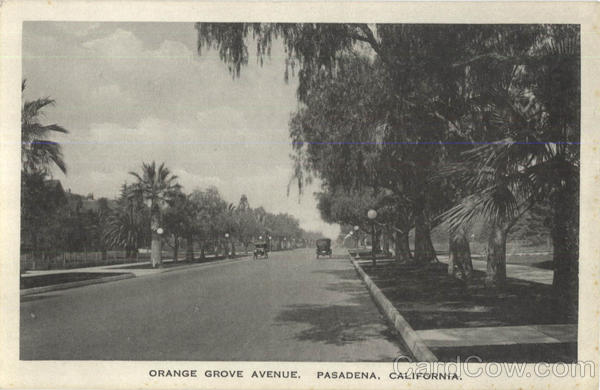 Orange Grove Avenue Pasadena California