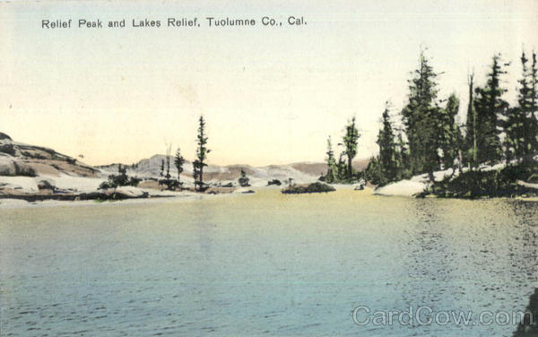 Relief Peak And Lakes Relief Tuolumne Co. Scenic California