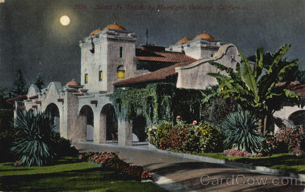 Santa Fe Depot By Moonlight Oakland California