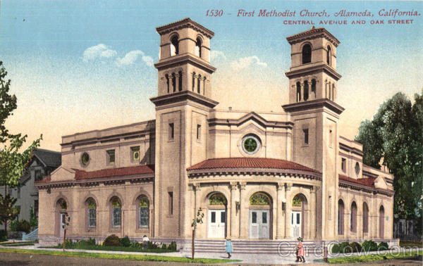 First Methodist Church, Central Avenue And Oak Street Alameda California