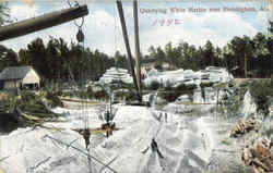 Quarrying White Marble Postcard