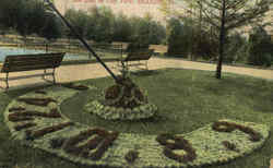 Sun Dial In City Park Postcard