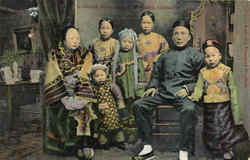 A Chinese Merchant And His Family, Chinatown