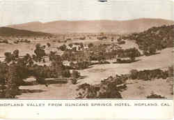 Hopland Valley From Duncan Springs Hotel