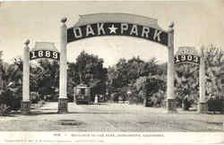 Entrance To Oak Park Postcard