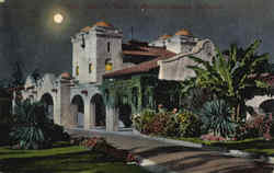 Santa Fe Depot By Moonlight