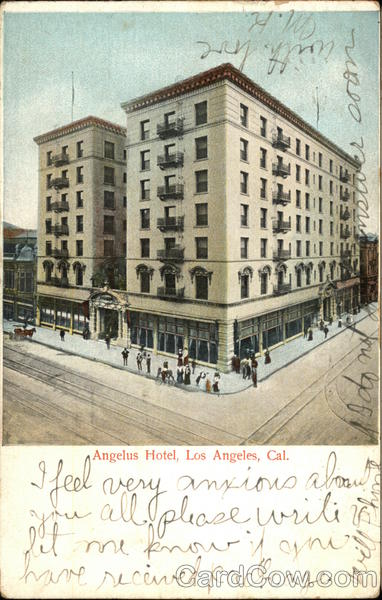 Bird's Eye View of Angelus Hotel Los Angeles California