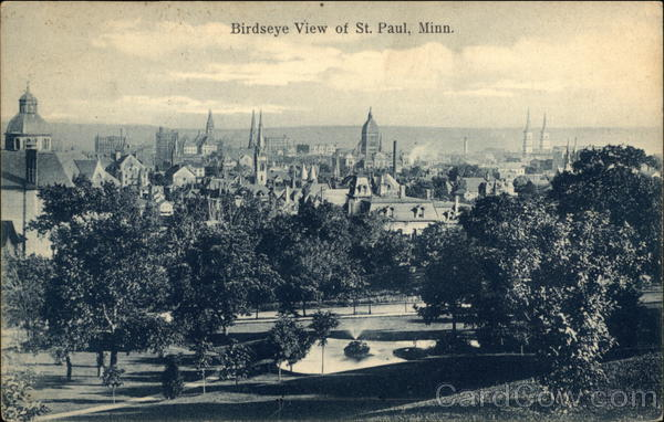 Bird's Eye View of Town St. Paul Minnesota