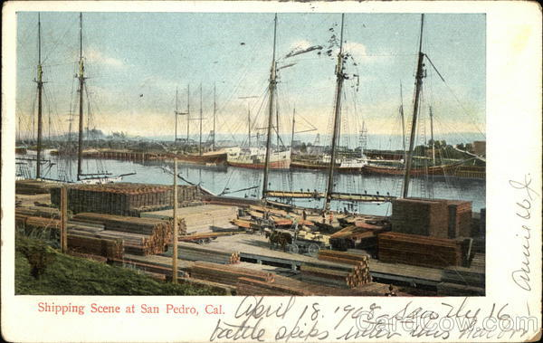 Shipping Scene on the Water San Pedro California