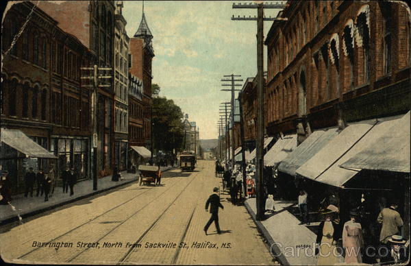 Barrington Street, North from Sackville Street Halifax Canada