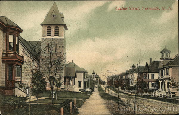 Collins Street View Yarmouth Canada Nova Scotia