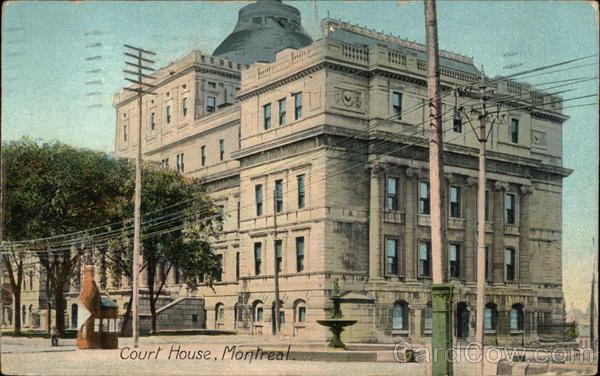 Street View of Court House Montreall Canada Quebec