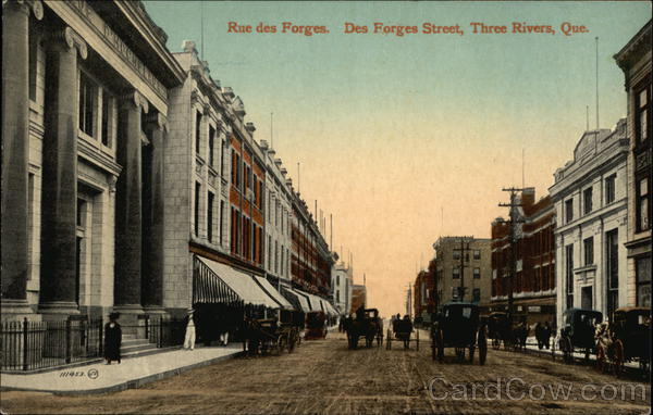 Rue des Forges, Des Forges Street Three Rivers Canada