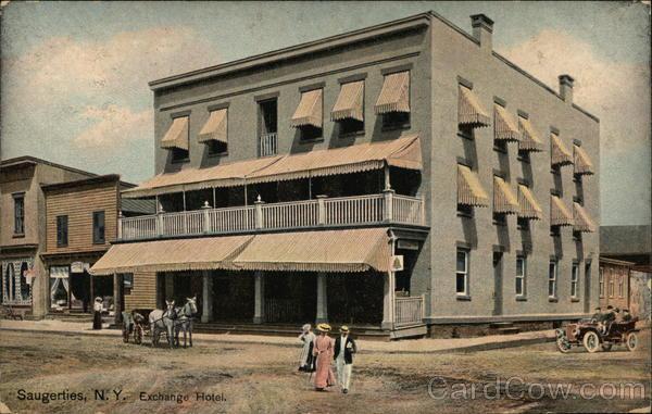 Street View Of The Exchange Hotel Saugerties New York