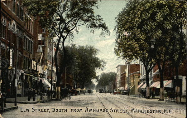 Elm Street, South from Amhurst Street Manchester New Hampshire