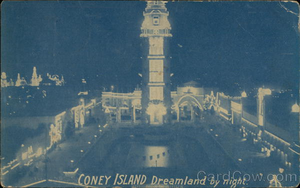 Dreamland by Night Coney Island New York