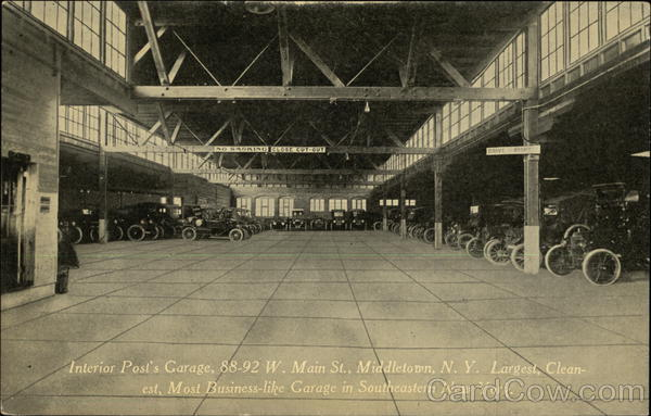 Interior Post's Garage Middletown New York