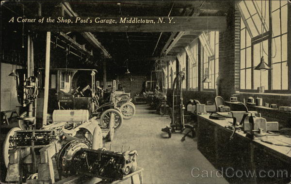 A Corner of the Shop, Post's Garage Middletown New York