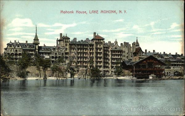 View of Mohonk House from the Water New Paltz New York