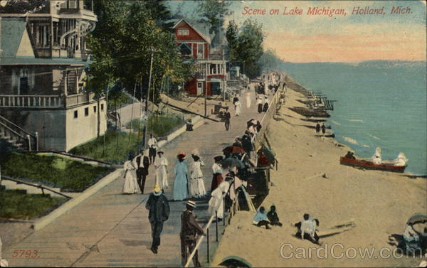 Scene on Lake Michigan Holland