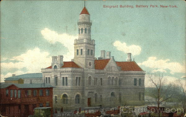 Bird's Eye View of Emigrant Building, Battery Park New York City