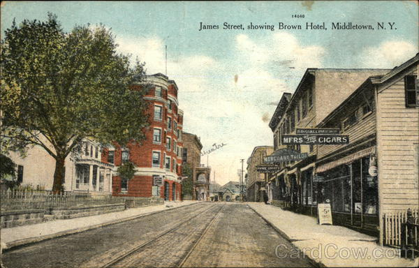 James Street Showing Brown Hotel Middletown New York
