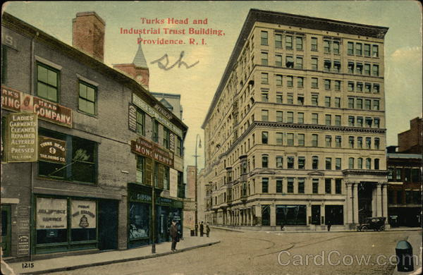 Turks Head And Industrial Trust Building Providence Rhode Island
