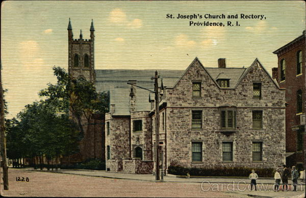 St Joseph's Church and Rectory Providence Rhode Island
