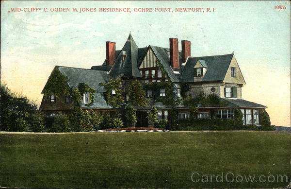 Mid-Cliff C. Ogden M. Jones Residence, Ochre Point Newport Rhode Island