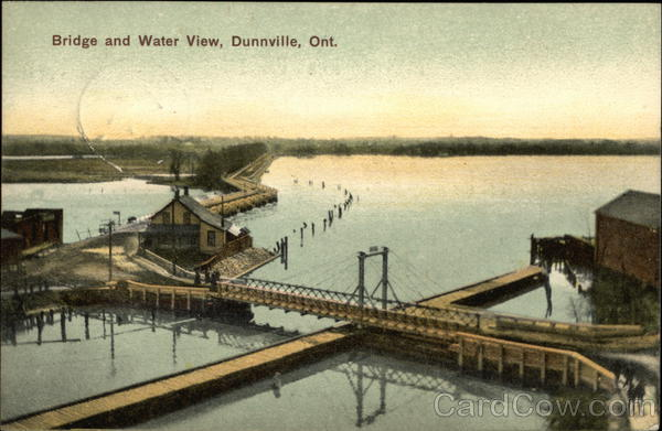 Bridge and Water View Dunnville Canada Ontario