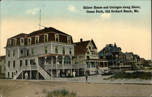 Billow House and Cottages along Shore, Ocean Park Old Orchard Beach Maine
