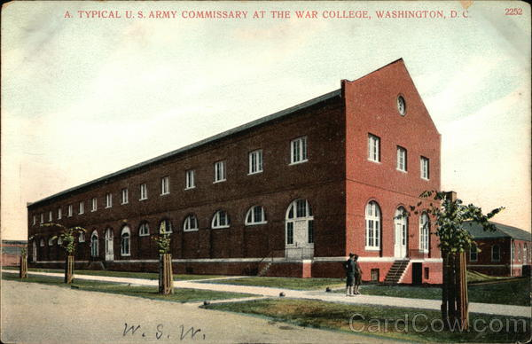 A Typical US Army Commissary at the War College Washington District of Columbia